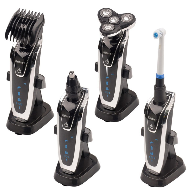 4 in 1 Men Electric Shaver Beard Razors Waterproof Barbeador Rechargeable Shaver Nose Trimmer Hair Clipper Men Face Care #KM5181
