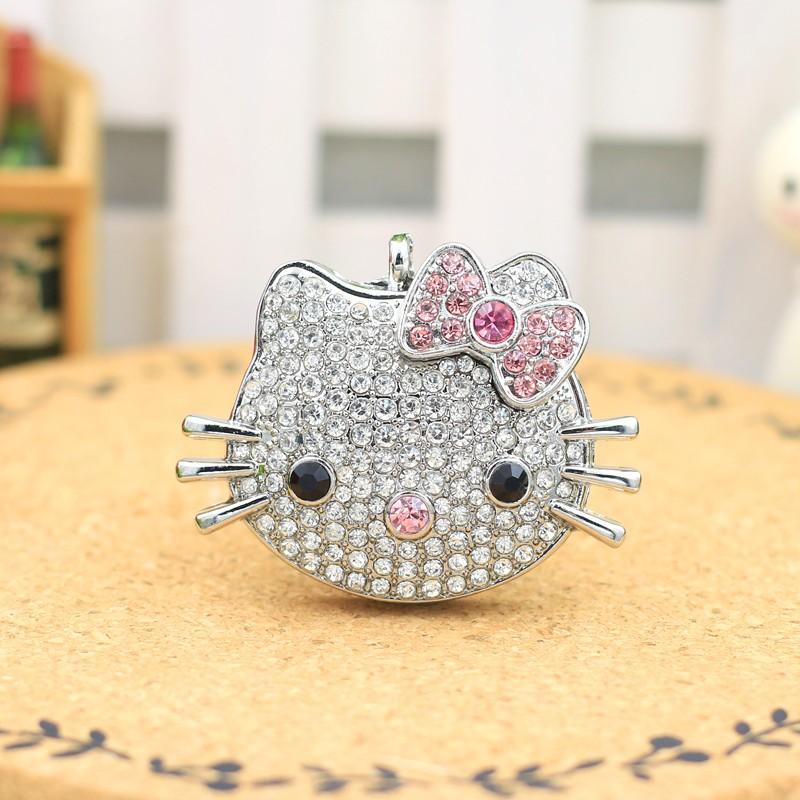 INCIPIENT Real Capacity USB Flash Drive 128GB Pen Drive Pendrive Metal Hello Kitty Cat Style 8GB 16GB 32GB 64GB 2.0 Memory Stick(China (Mainland))