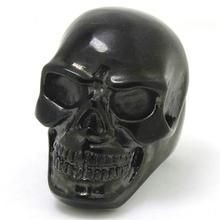 Mens Boy 316L Stainless Steel Cool Punk Gothic Big Black Skull Newest Desing