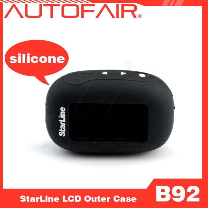 Free shipping New hot sale Starline B92 silicone case for two way car alarm Starline B92 /B64/B62/B94 two way LCD silicone case(China (Mainland))