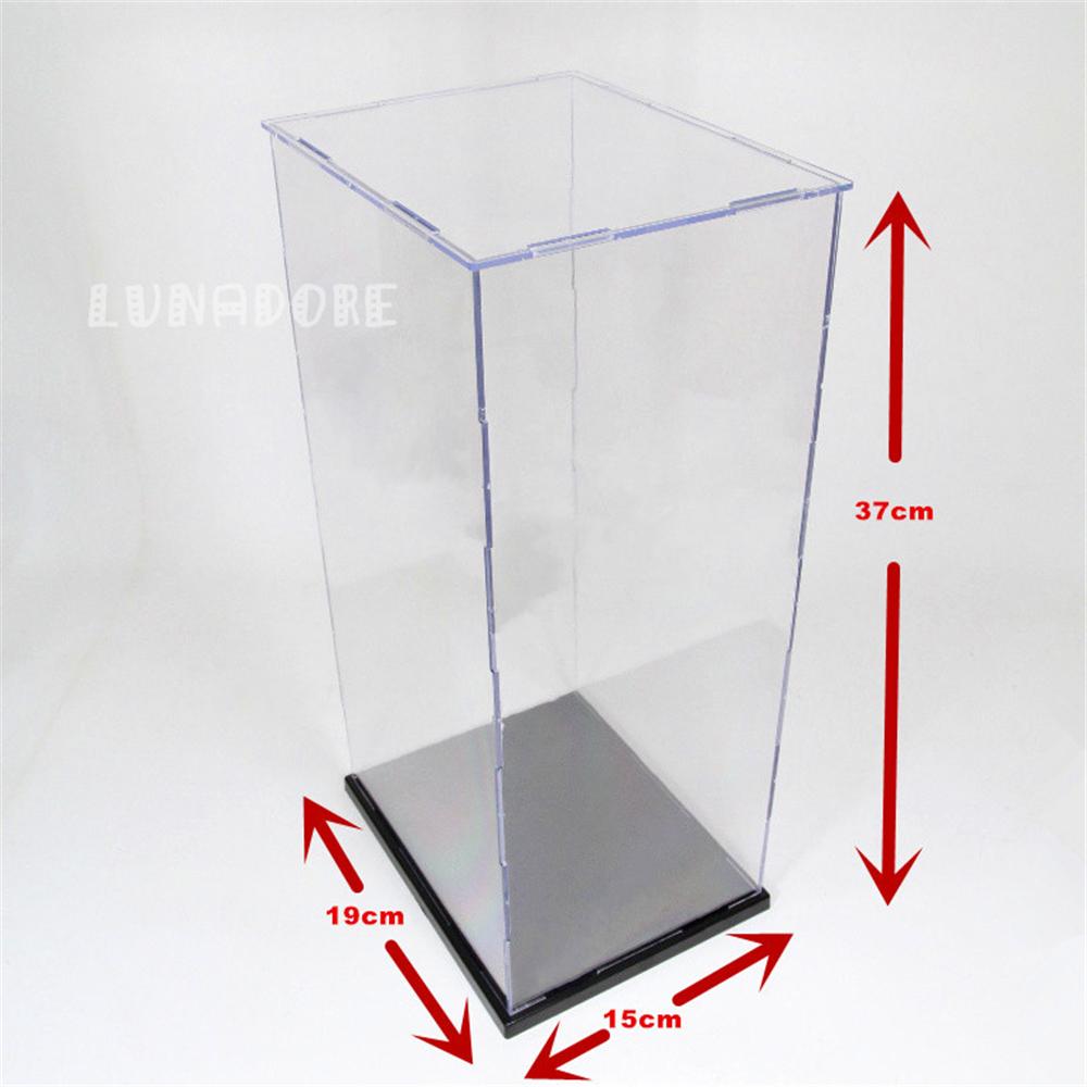 Acrylic Box 4 X 4 : Ship from us acrylic assembly display case box