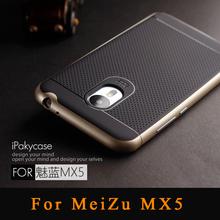 100% Original Ipaky Brand Meizu Mx5 Case PC Frame & Silicon Cover Hybrid Protective Phone Case for Meizu Mx5 case Free shopping