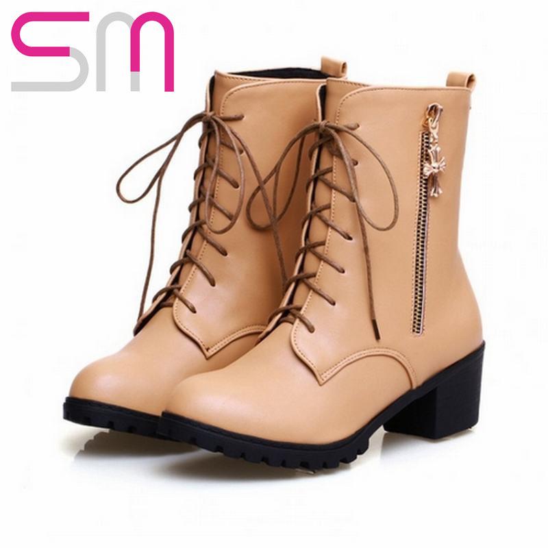 Fashion Women Short Boots Novelty Design Zipper Women Short Boots Fashion Thick Heels Women Motorcycle Boots Fashion Women Shoe<br><br>Aliexpress