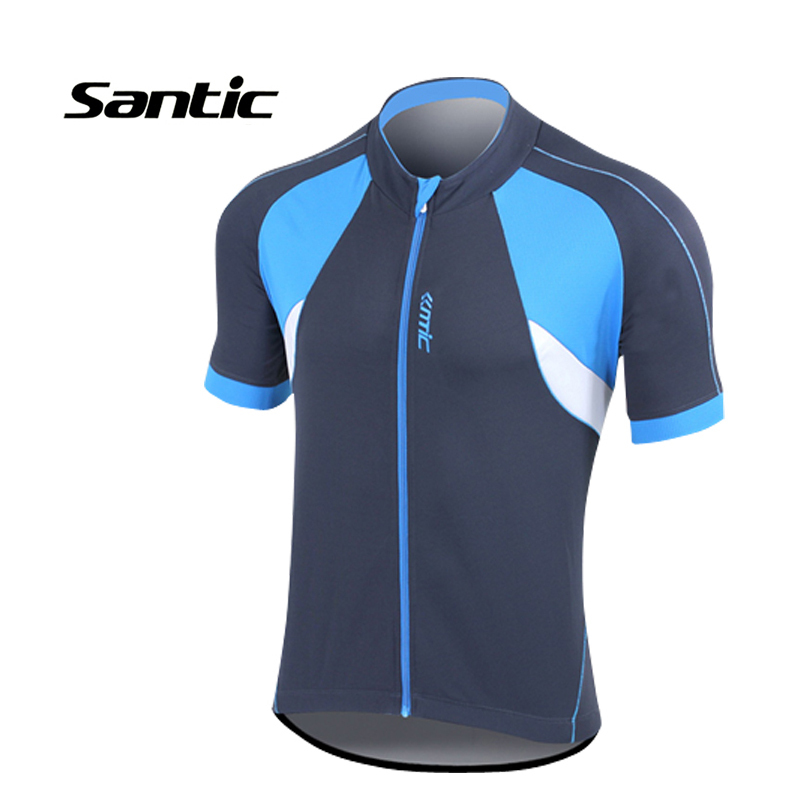 Santic Gana Cycling Jersey Short Sleeve Gray and Blue Outdoor Mens Sportswear Summer Quick Dry Shirts <br><br>Aliexpress