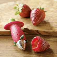 New Kitchenware Tomato Stalks Fruit Strawberry Knife Stem Remover Strawberry Slicer Strawberry Huller(China (Mainland))
