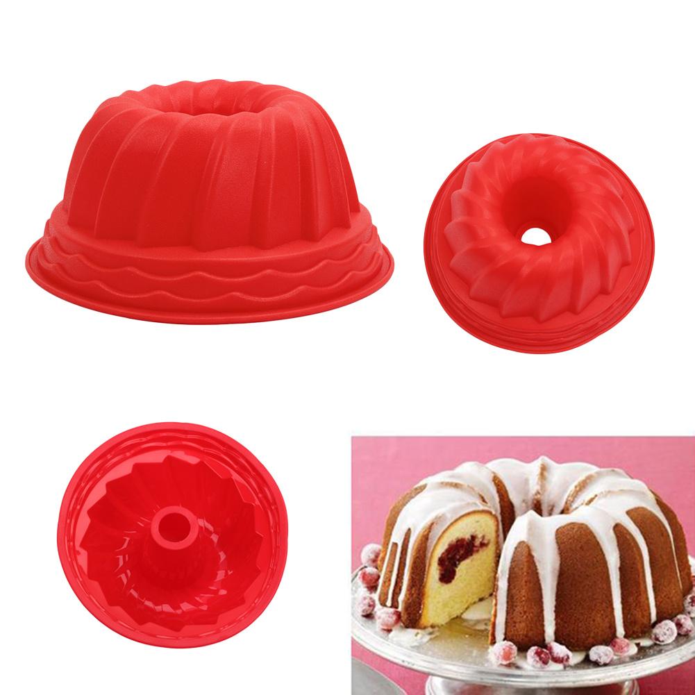 1 pc Anel de Silicone Bakeware Mould Bolo de Bundt Pan Estanho Molde De Cozimento Pastelaria Pão Ferramenta material de Cozinha Em Casa(China (Mainland))