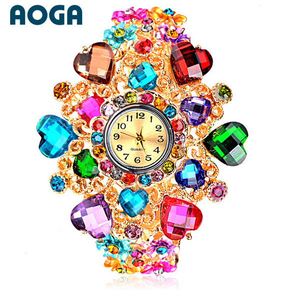 2014 crystal love heart bracelet fashion Women's Watches Bangle watch W154 - Taideli ( AOGA Brand store Jewelry)