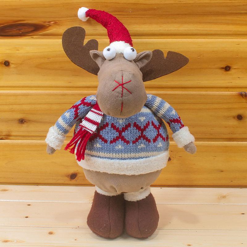 2015 Adornos Navidad New Stylish Cute Christmas Reindeer Dolls Decorations For Home Enfeites De Natal 36CM SHB290(China (Mainland))