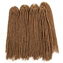 X-TRESS 18-26 дюймов мягкие дреды вязаные крючком косички Jumbo Dread прическа Ombre цвет синтетический искусственный Locs плетение волос(China)