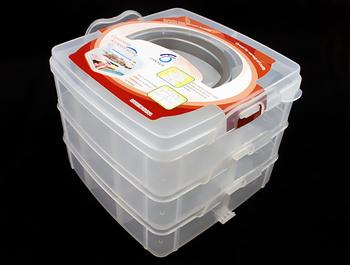 Brand New White Color Nail Art Craft Makeup Multi Utility Box Case EL037