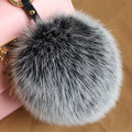 2016 fashion Galeries Lafayette Monster Bag Charm Keychain Fur Pom British Luxury Car Pendant Jewelry Made Of Natural