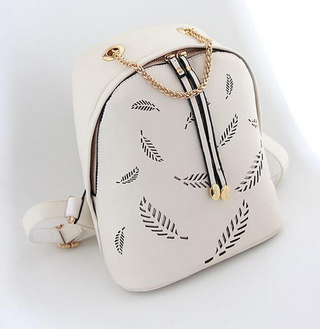 New top quality fashion women pu leather backpack printing backpack school bag for girls mini women