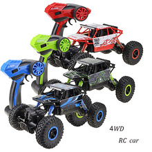 Buy RC Car 2.4GHz 4CH 4WD Rock Crawlers 4x4 Driving Car Double Motors Drive Bigfoot Car Remote Control Model Off-Road Vehicle Toy for $19.79 in AliExpress store