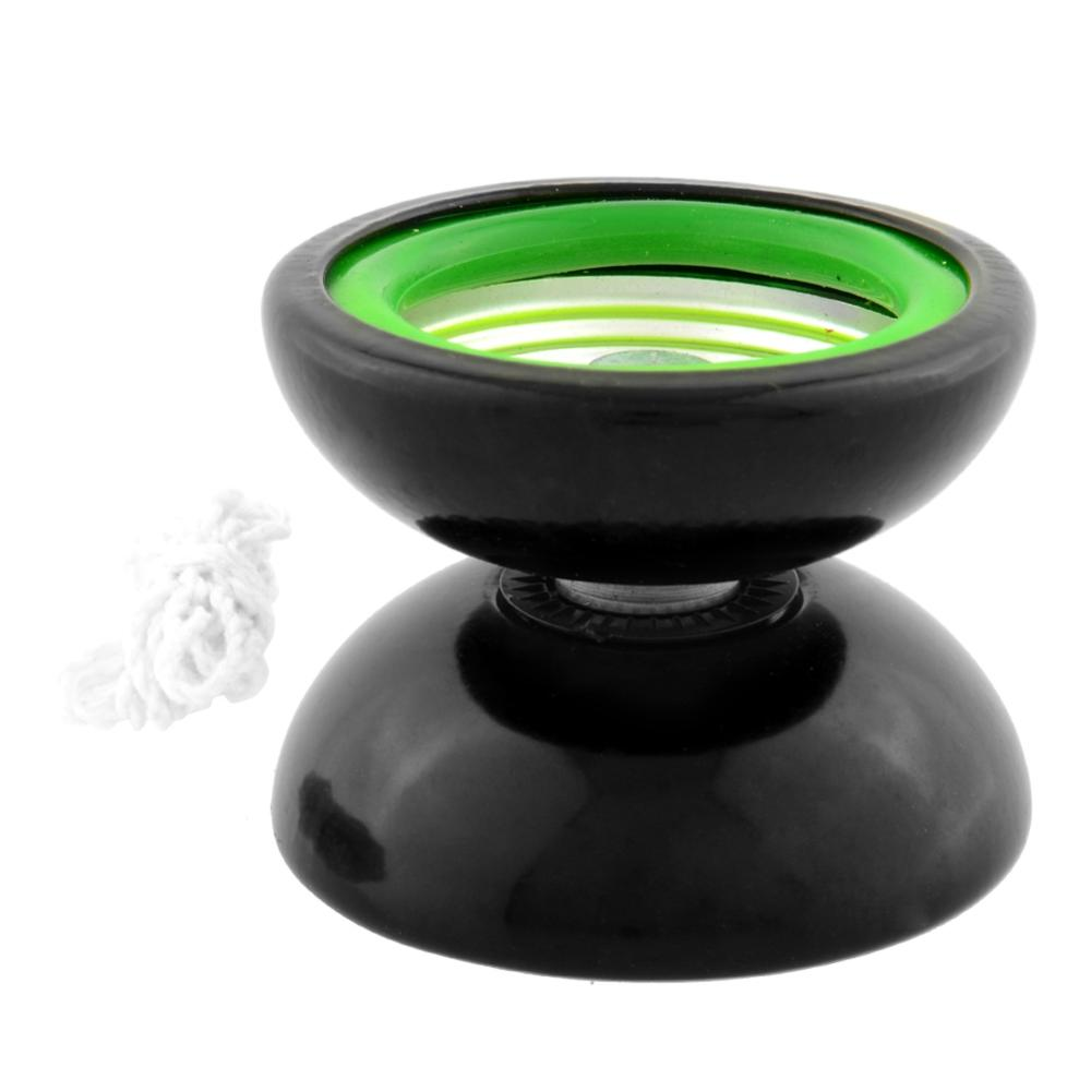 Quality Professional YoYo Metal Ball Rotate Trick Gift Kid Child Toy Black &amp; Green Free Shipping<br><br>Aliexpress
