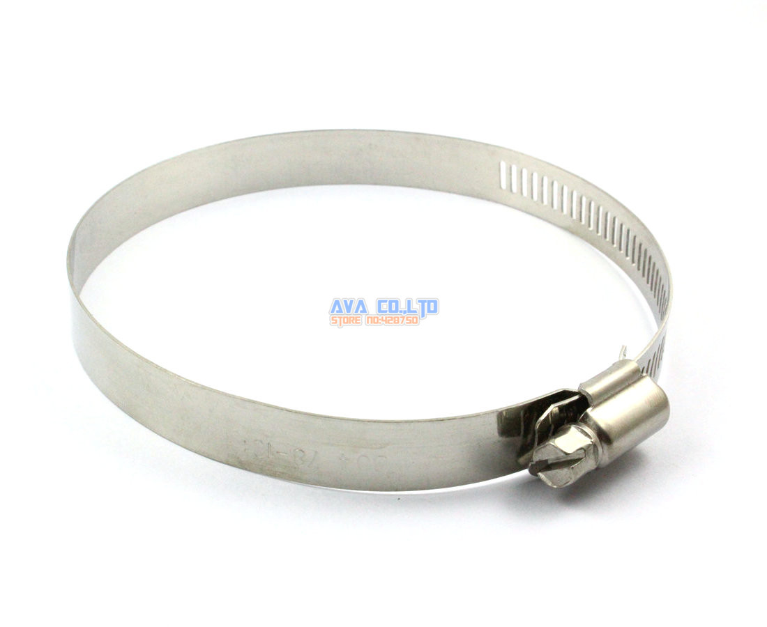 10 Pieces 78-101mm Stainless Steel Hose Clamp Worm Gear Hose Pipe Fitting Clamp<br><br>Aliexpress