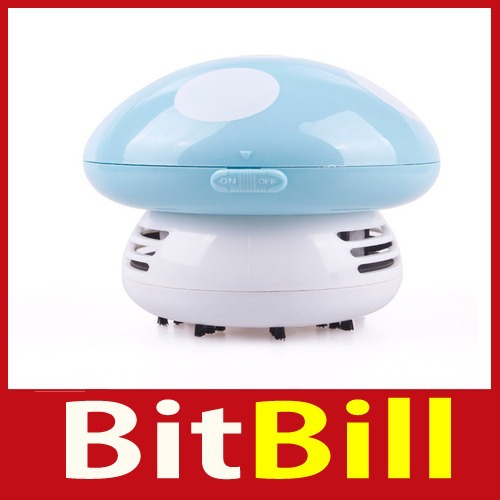 Quality! bitbill Mini Cute Mushroom Keyboard PC Desk Desktop Laptop Dust Collector Vacuum Cleaner wholesale Special offer(China (Mainland))
