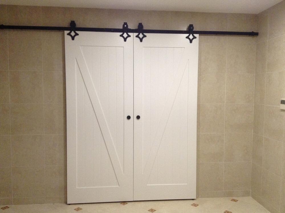 8 2ft rustieke dubbele schuifdeuren schuur hout deur closet deur interieur houten deur hardware
