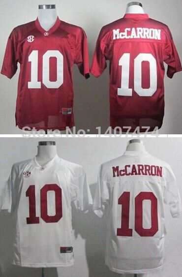Exclusive High Discount Sales/NCAA Jerseys Alabama Crimson Tide #10 A.J. McCarron man white/ red ncaa Footballs jersey