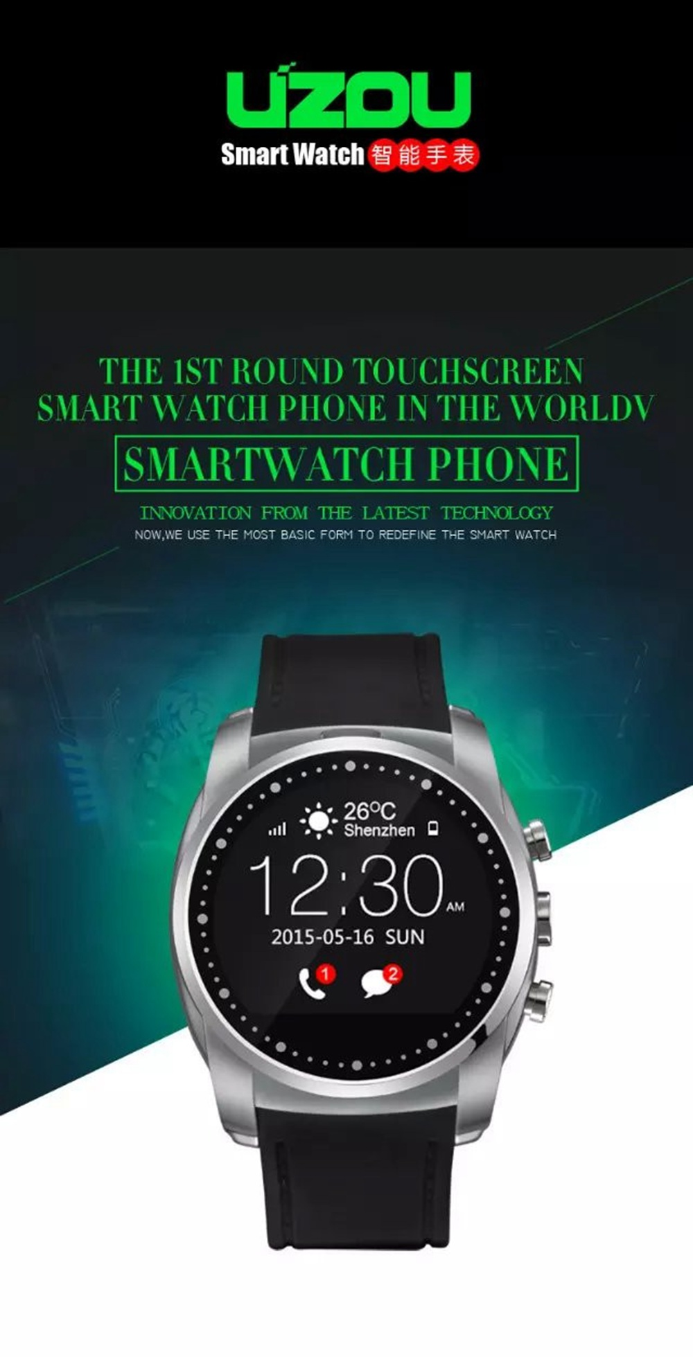2016 New! A8 Smart Watch Phone Heart Rate Pulse Monitor Bluetooth SmartWatch Inteligente Reloj with SIM TF Card Slot for Men