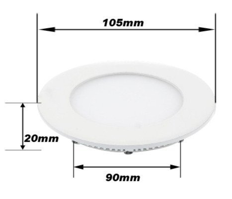New Arrival New Wholesales 6500k 3014 Smd Led Cool White Round Recessed Ceiling Panel Flat Downlights Bulb 480lm + Driver(China (Mainland))