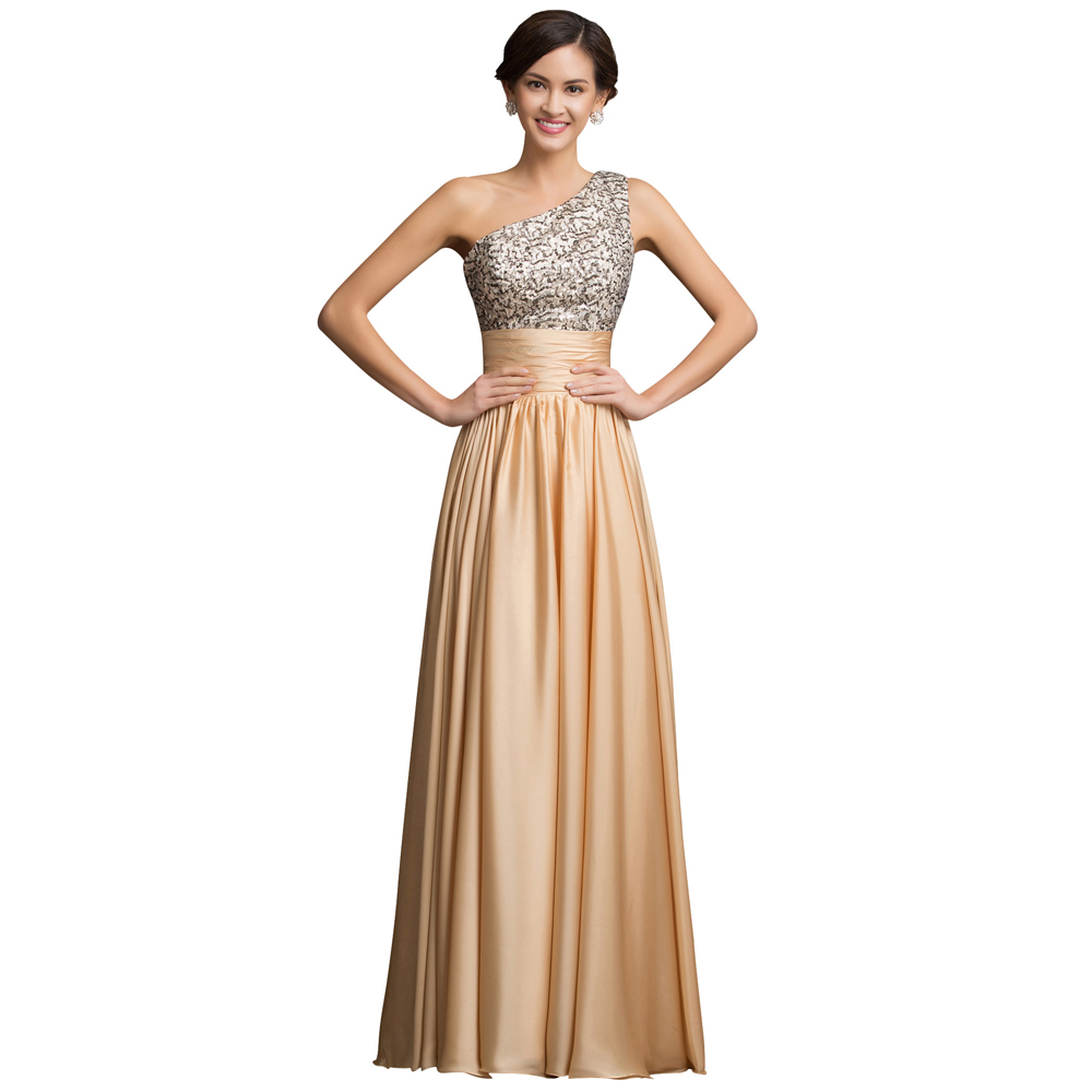 New arrival luxury sequin evening dresses 2016 one for Long elegant dresses for weddings