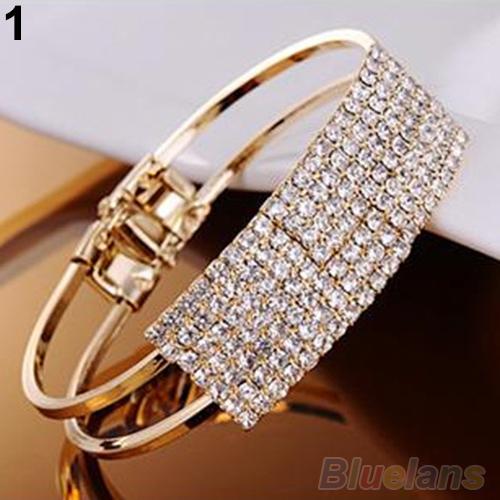Новинка элегантных женщин браслет браслет браслет кристалл запонки шику леди подарочные ...