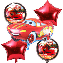5pcs/lot Cartoon car Foil Balloons star Helium Balloon Inflatable children classic toys happy Birthday balloons Party Supplies(China (Mainland))