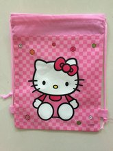 2016 Hot Selling children's hello backpack KITTY cat Backpack School Bag , waterproof camping shoe bags for girls kidsgift