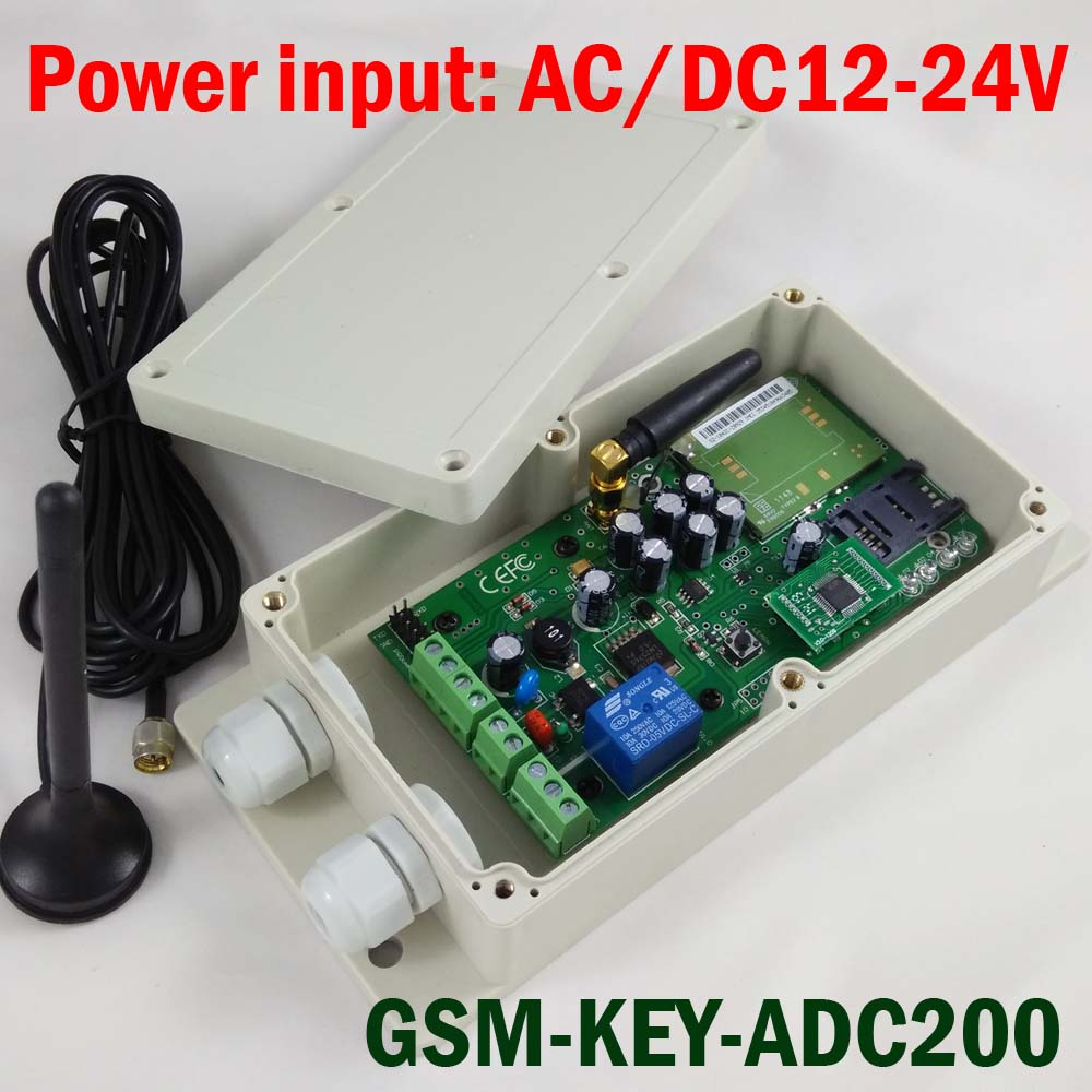 Garage door remote access controller GSM-KEY-ADC200 QUAD Band design for door opener(China (Mainland))