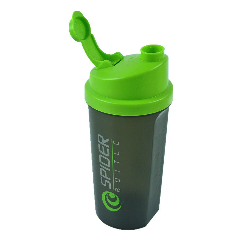 Protein Powder Shaker Bottle Gym Shaker Mixer Sport Drinking Water Bottle BPA Free With a Stainless Steel Ball for Mixing 700ML(China (Mainland))