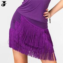 Latin Dance Skirt Red/Purple/Black Cha Cha/Rumba/Samba/Ballet/Ballroom Tassels Dance Skirts Exercise/Performance Short Skirt