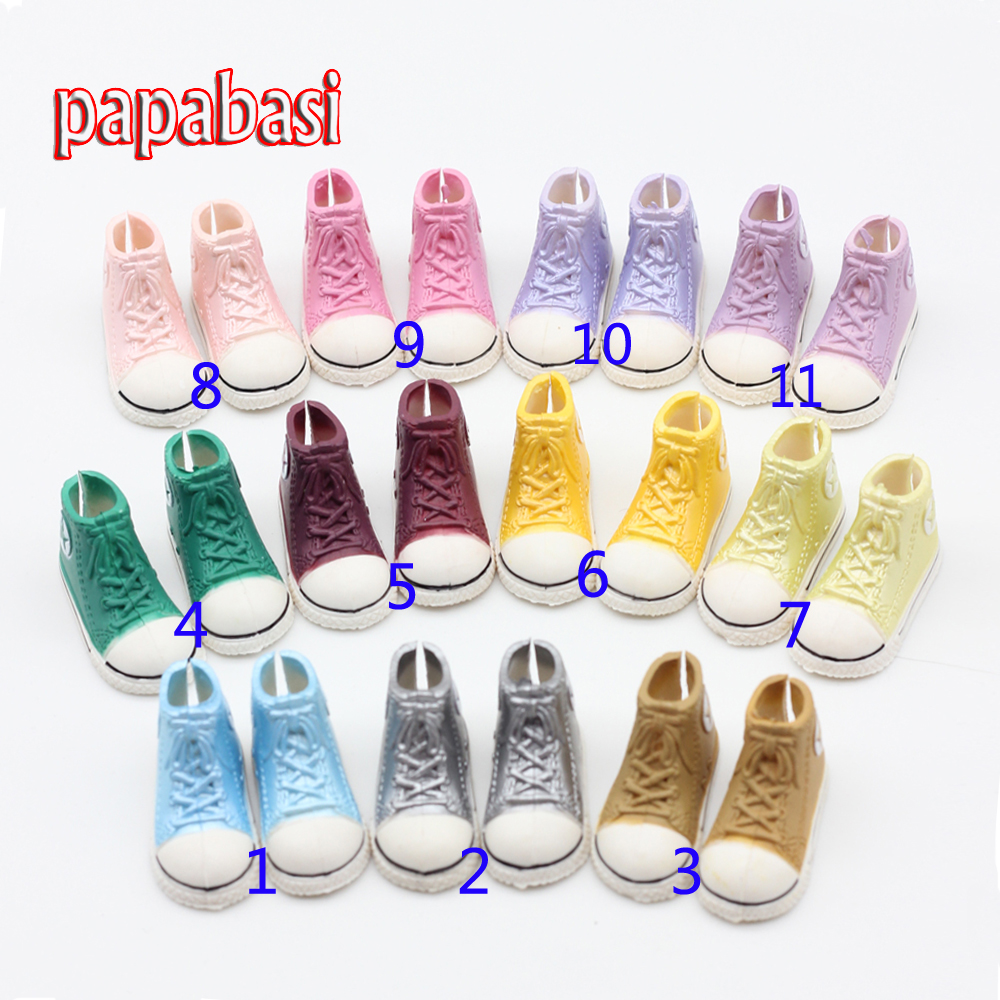 Papabasi 1pair Plastic Fashion Sport Shoes for Bly-the Pullip Momoko BJD Doll Accessories Toy(China (Mainland))