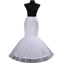 2016 Wholesale Mermaid Petticoat 1 Hoop Bone Elastic Wedding Dress Crinoline 2016 Bridal Petticoat Cheap(China (Mainland))