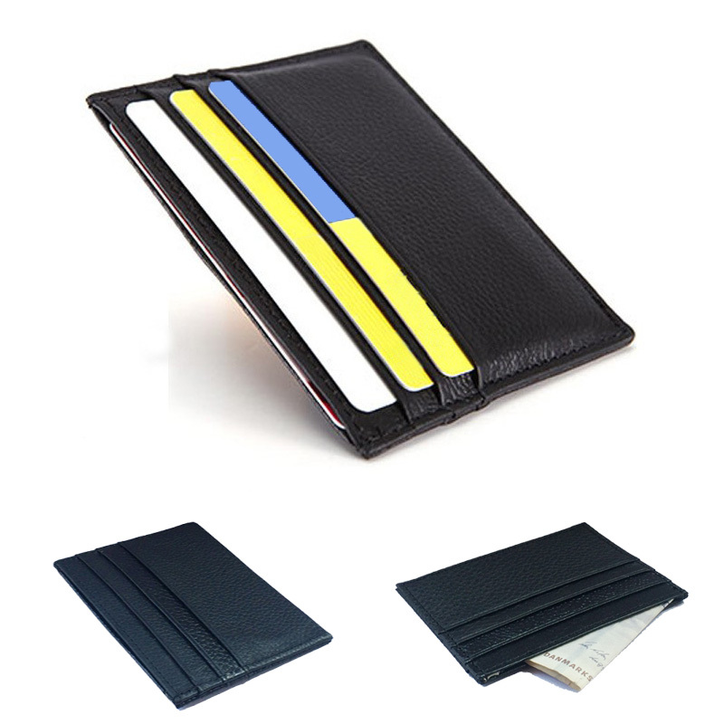 Genuine Leather Credit Card Holder Card Case Card ID Holders Men wallets Women