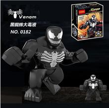 Wholesale 30pcs Decool 0182 Super Heroes Avengers Action figures Minifigures 7cm Big Black Spider Venom Building Blocks Figures