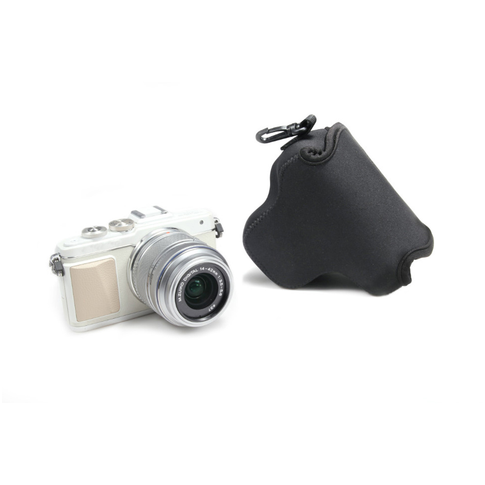 Black Mini Neoprene Soft Camera Bag For Olympus EPL7 Waterproof Case Covers with Logo Free Shipping(China (Mainland))