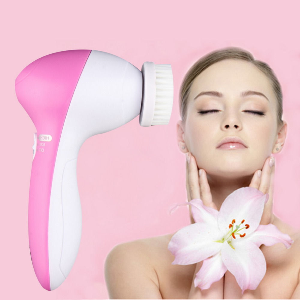 1pcs Hot Worldwide 5 In 1 Body Face Skin Care Cleaning Wash Brush SPA Facial Beauty