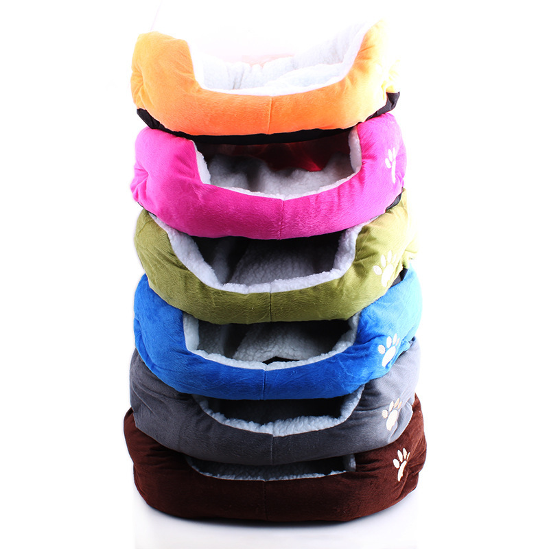 High Quality Pet Dog For Cat Soft Fleece Warm Bed House Plush Cozy Pad Mat Assorted 5 Color(China (Mainland))