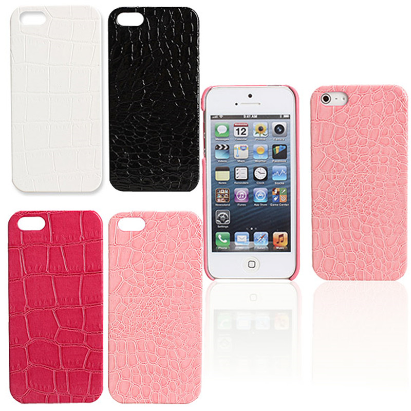 Free Shipping Crocodile Pattern Hard Case Back Cover Protector for iPhone 5(China (Mainland))