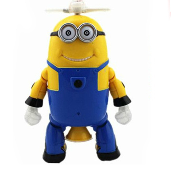 Despicable Me Minions Music Flashing Dancing Robot Battery Operated Kids Baby Favorite Gifts(China (Mainland))