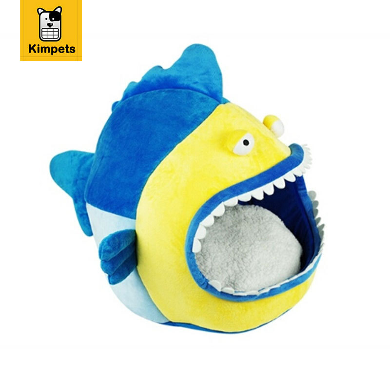 product Cute Luxury Big Fish Dog Home Houses For Dogs Cats Pet casas de perro