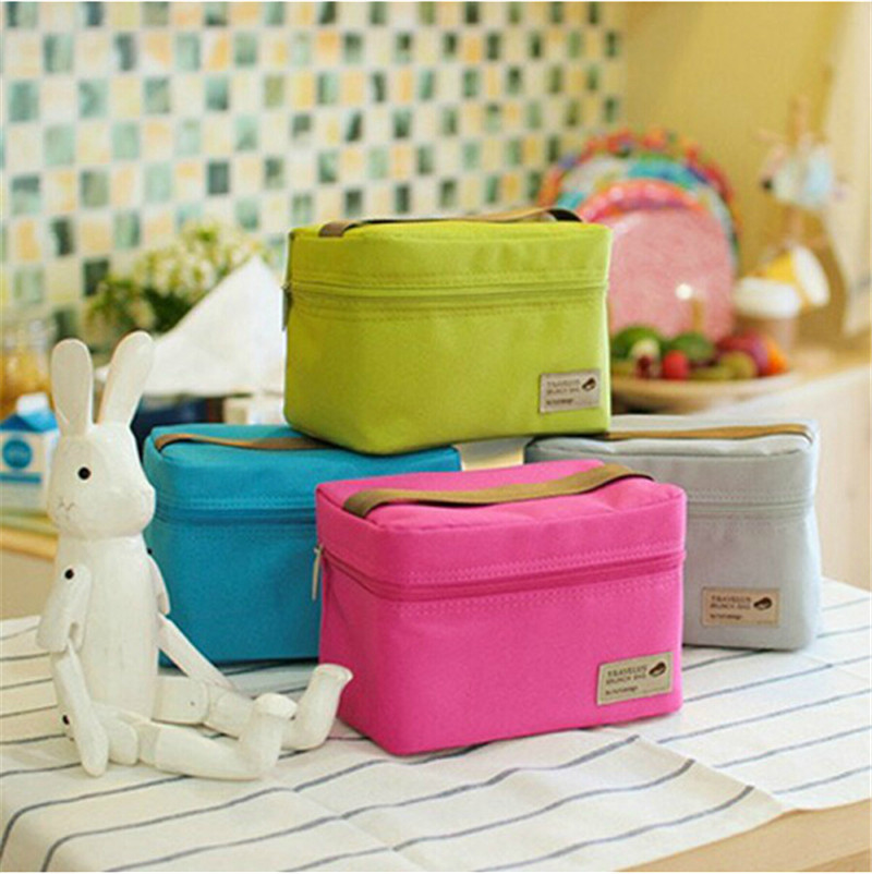 2016 New Arrival Polyester Ice Bags Outdoor Practical Small Portable Cooler Bag Lunch Bags Picnic Waterproof Pouch Organizer Bag(China (Mainland))