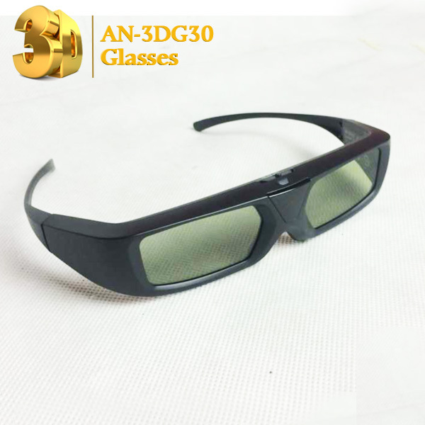 LCD shutter 3D glasses an-3dg30 television movie 3D glasses for TV 3D glasses free shipping(China (Mainland))