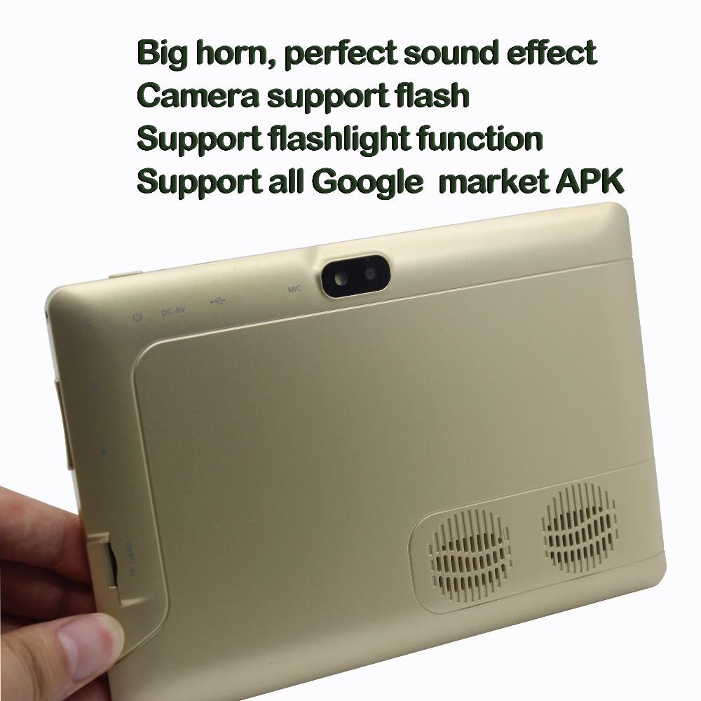 7 дюймов Android планшет пк wi-fi bluetooth OTG 1 гб 16 гб четырёхъядерный двойной камера 1 G 16 G большой динамик 8 9 10 дюймов планшет
