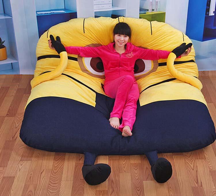 Little yellow person,Furniture,Tatami, lazy beds, mattresses lazy creative 200*130cm Super soft ,floor chair ,cadeira ,taburete(China (Mainland))