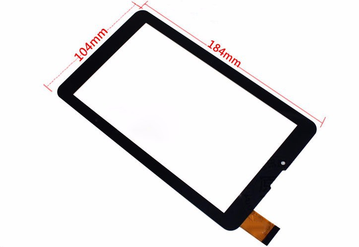 New 7 inch Touch Screen Digitizer Glass For EvroMedia Play Pad 3G DUO tablet PC free shipping