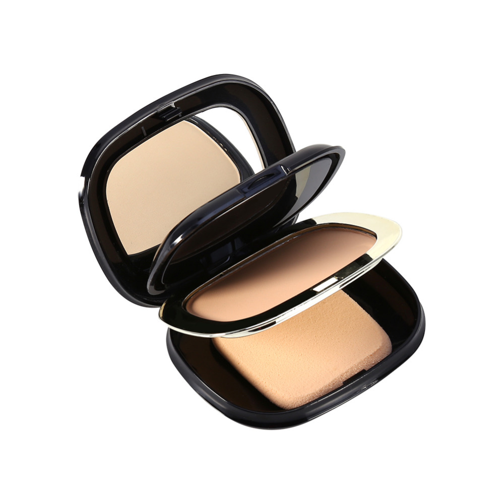 Professional 2 Layers+Powder puff+Mirror For Women Face Foundation Contour Dry/Wet Powder Makeup Palette Skin Foundation Base(China (Mainland))