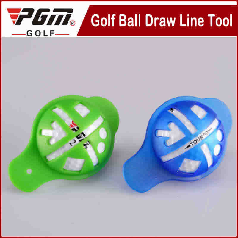 Free shipping golf scriber golf ball plastic accessories blue and green scriber (transparent)draw line tool wholesale and retail(China (Mainland))