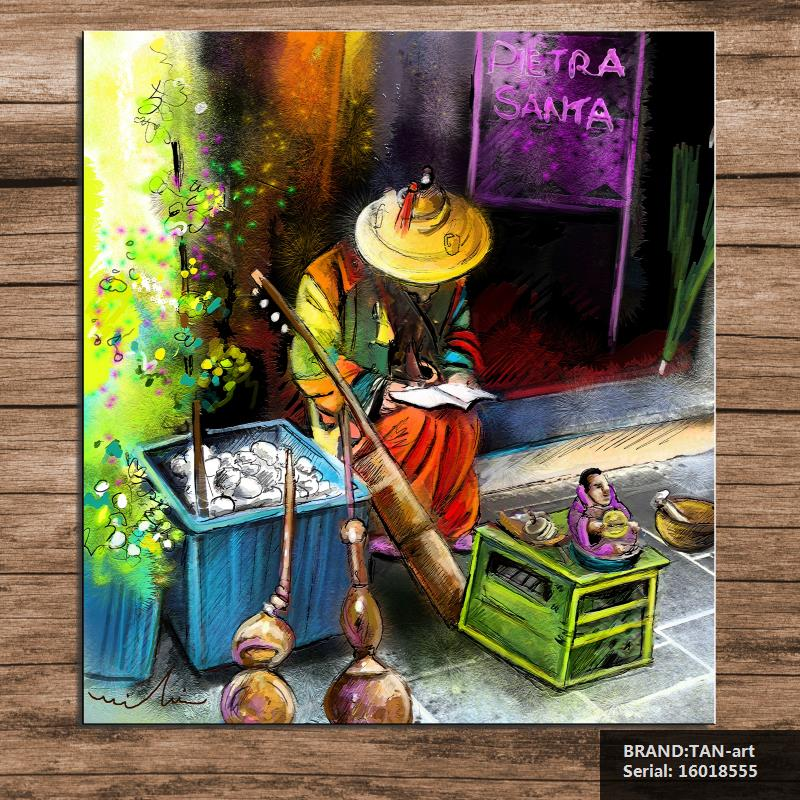 Street Musician In Pietrasanta In Italy Painting Figure Painting Abstract Spray Unframed Canvas art 16018555(China (Mainland))