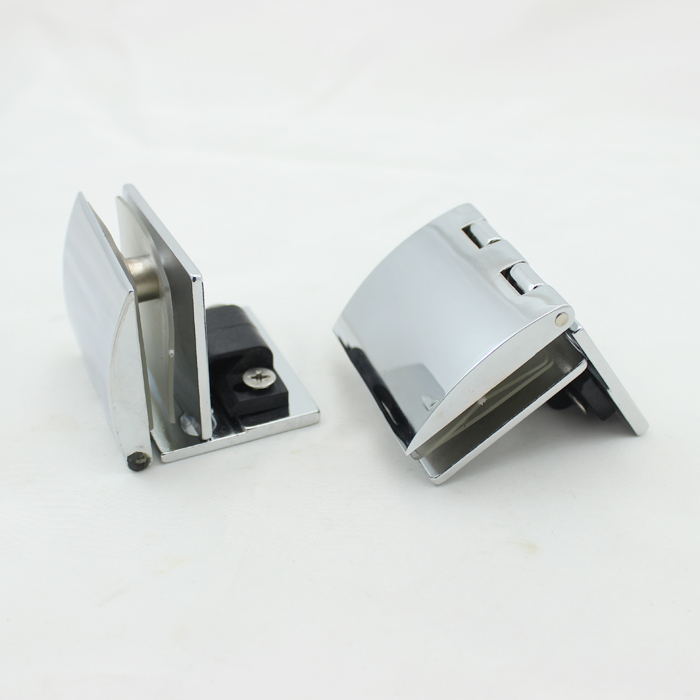 Glass door hinge glass cabinet door hinge glass hinge hole-digging glass hinge 90 clip(China (Mainland))